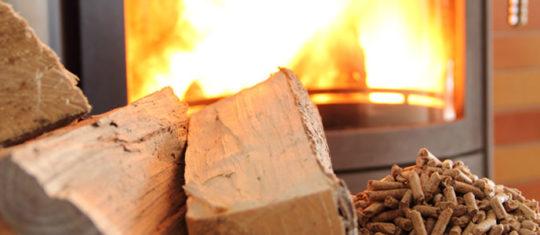 Chauffage au poêle à granulés de bois