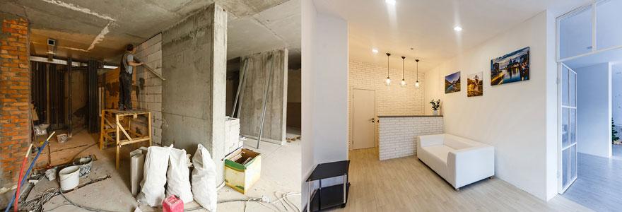 Travaux de rénovation de maison
