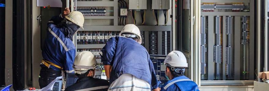 intervention de techniciens en maintenance